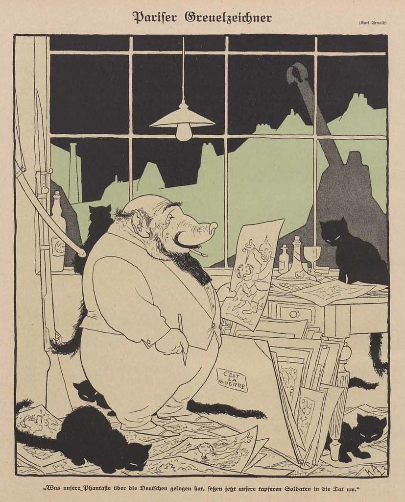 Karl Arnold - Pariser Greuelzeichner, 1923