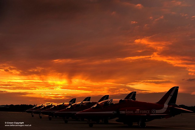 Red Arrows Sunset