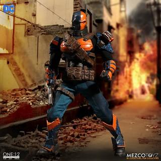 MEZCO – ONE:12 COLLECTIVE 系列【喪鐘】DC Comics Deathstroke 1/12 比例人偶作品