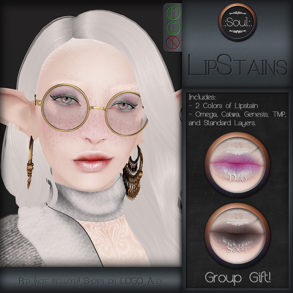 .:Soul:. LipStains V.I.P. GroupGift - SecondLifeHub.com