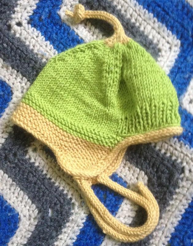 """Keep my ears warm"" baby hat."