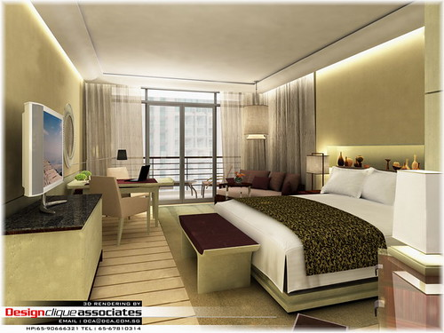 3d Hotel Bedroom Design Rendering Designer Hirsch Bedne Flickr Photo Sharing