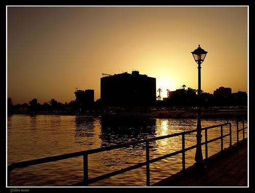 bridge sunset golden bestof shadows cyprus olympus lantern magicmoment limassol e500 zd 1445mm