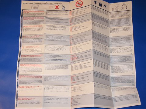 Stool Sample Collection Instructions