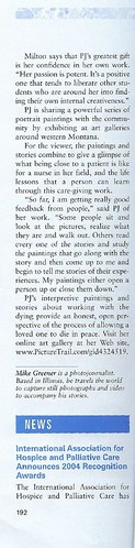 Article about my work in the Hospice Journal