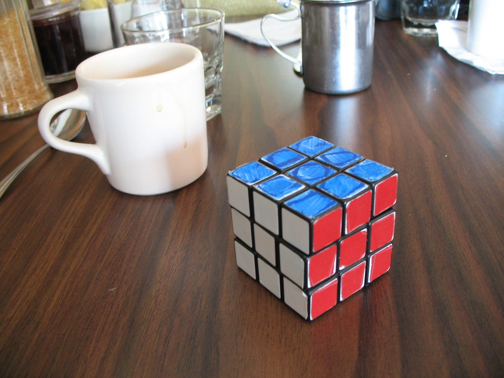 Coffee with Rubik's Cube
