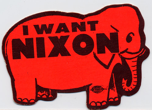 I Want Nixon Decal, 1960