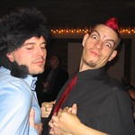 My friend Jim and I in a drunken display of ridiculousness @ the Vivid XXXMas party 2004
