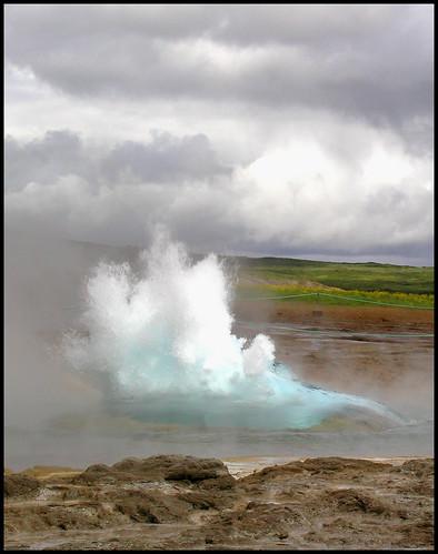 Strokkur erupts