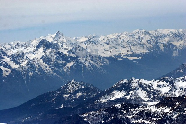 The Alps seen from the Klein Matterhorn