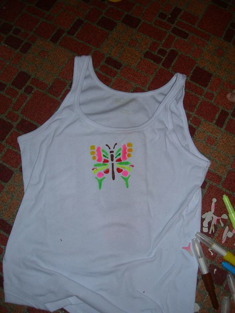 Finished butterfly tanktop