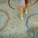 hula hoops and green shoes