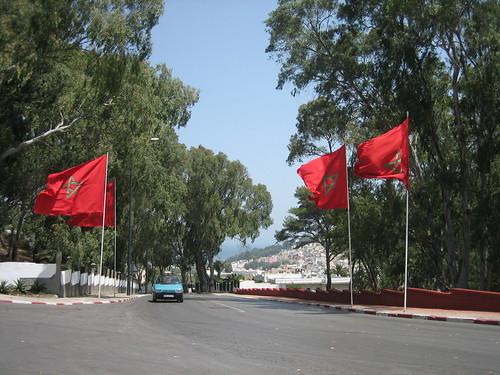 Una carretera cerca de Tánger