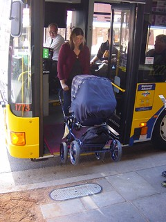 Adelaide wheelchair accessible bus (nice for baby strollers too)