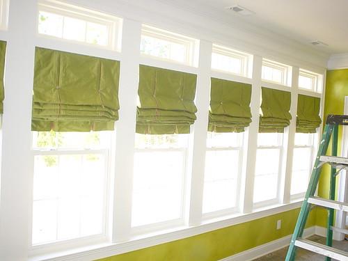 """High Ceiling Window Treatments"", ""tall windows"", ""double windows"", ""early nineties windows"", ""backyard windows"", ""windows to the pool"""