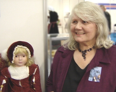 Anna Amnell at the book fair in Turku 2006