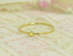 Tiny Citrine Ring Se