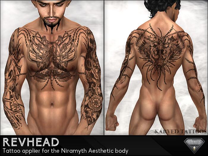 KARVED Aesthetic Tattoo - Revhead - SecondLifeHub.com
