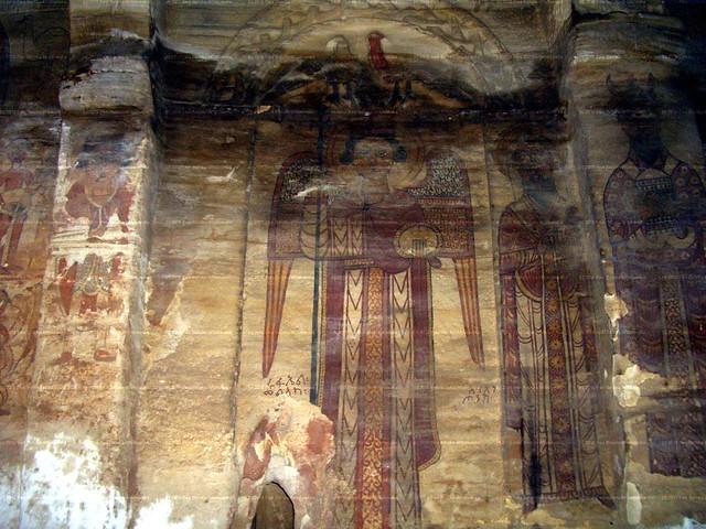 ቅዱስ ሩፋኤል ቆርቆር ማርያም ትግራይ፡ በ13/14 መ.ክ.ዘ. Rufael 13 or 14 wall painting Qorqor Maryam large