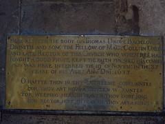 Memorial brass to Thomas Drope (d.1633)
