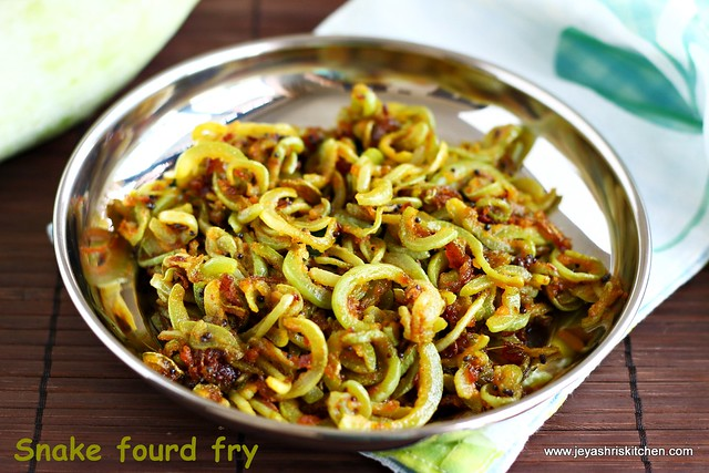 PUDALANGAI FRY | SNAKE GOURD CURRY RECIPE | Jeyashri\'s Kitchen
