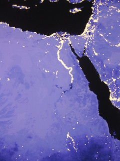 Nighttime Egypt and Levant
