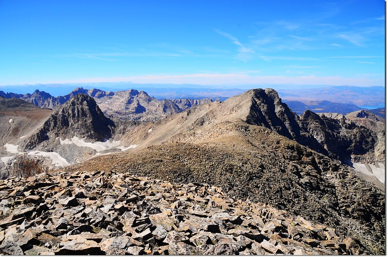 View from the summit of Mount Audubon, looking west along the ridge to Paiute Peak