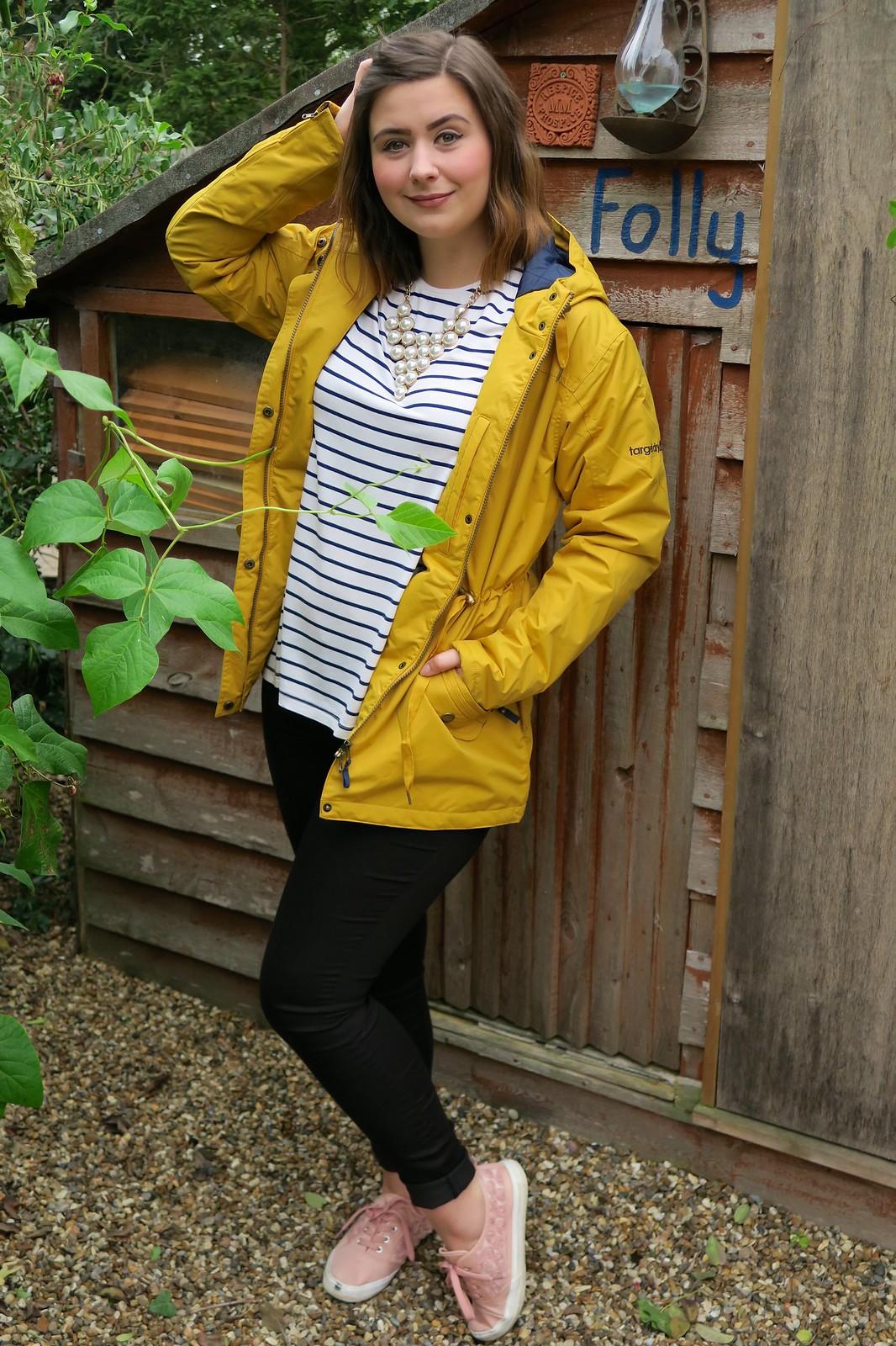 uk fashion blogger scotland edinburgh target dry waterproof coat