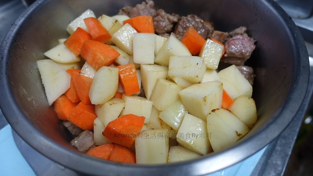 costco,咖哩,好市多,牛肉,牛肋條,米可 @Amanda生活美食料理