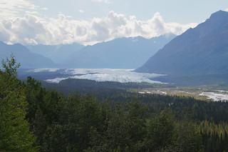 046 Uitzicht op Matanuska gletsjer