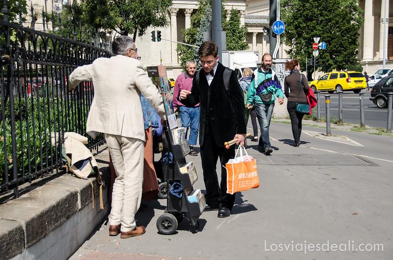 calles de Budapest músicos