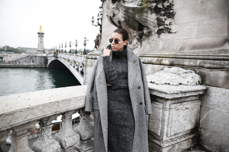 winter essentials, all grey, Paris, street style, comfort dressing, oversized coat, MODERN LEGACY x MATCHESFASHION.COM, Raey