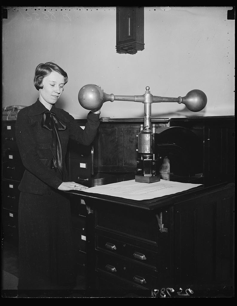 Identified! [Device that impresses the Great Seal of the United States on certain official documents] (LOC)