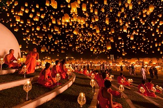 Thailand lantern festival of light