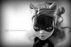 b/w challenge 281 / 365 - ooak doll by p4d ... miaou! by photos4dreams
