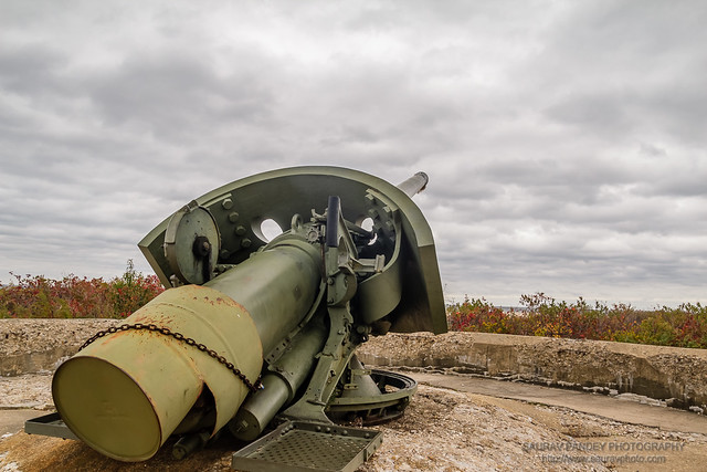 Six inch Gun at Battery Peck