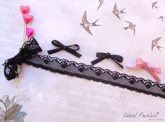 W.I.P. sewing and dark lace