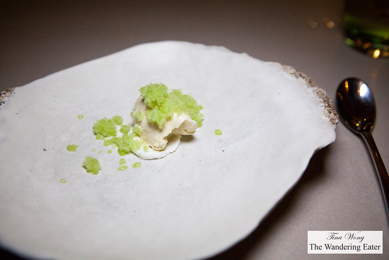 Goat cheese mousse, celery granita