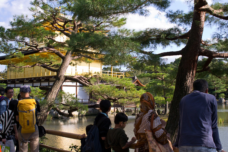 Back side of Kinkaku-ji, Kyoto's Golden Pavilion