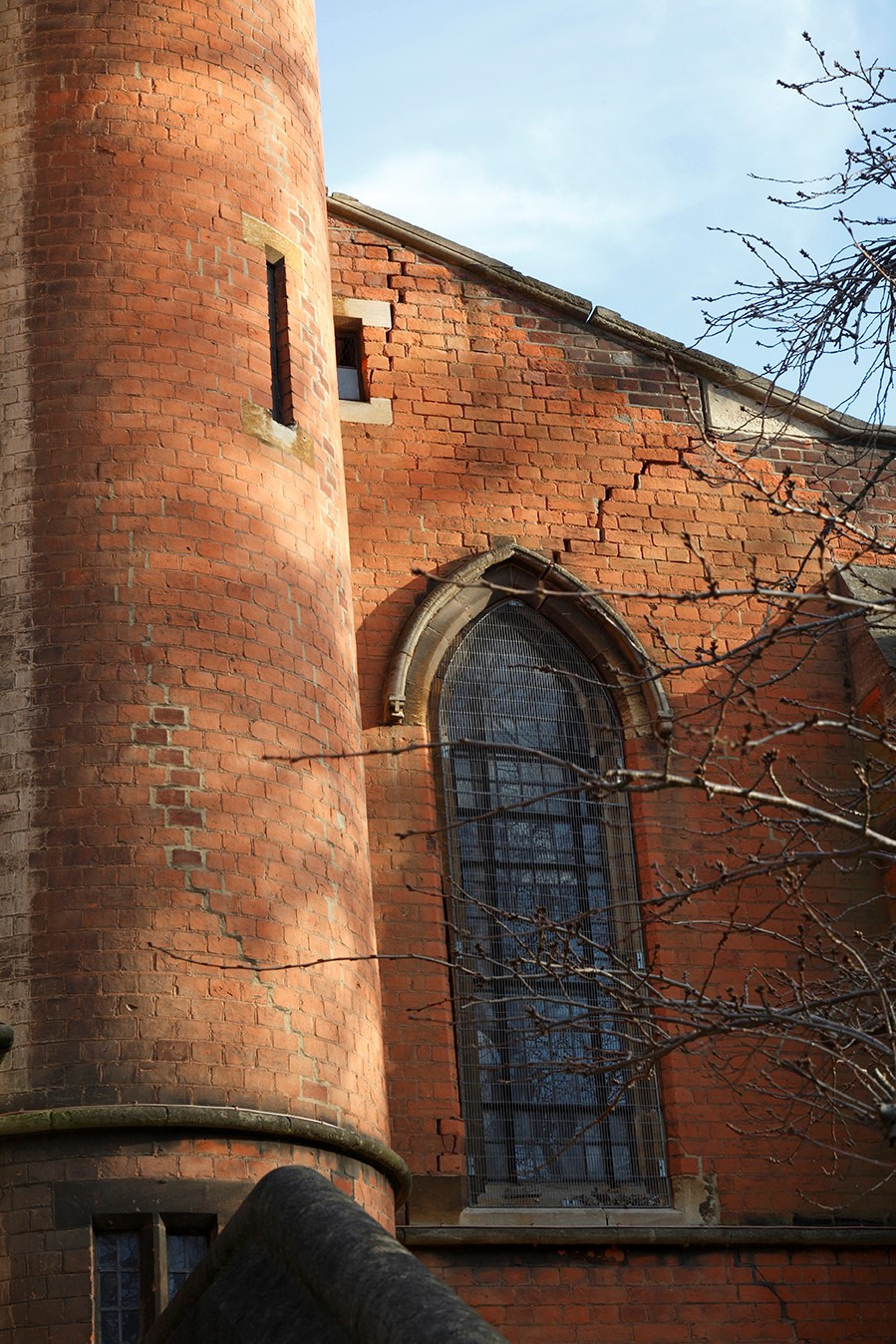St John the Evangelist, Upper Norwood SE19 2RX Subsidence Damage Photography - MUST CREDIT (c) James Balston
