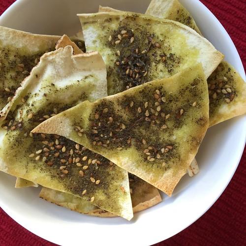 November 20 #dailylunches - Homemade pita chips