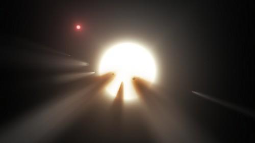 Enjambre de cometas alrededor de KIC 8462852