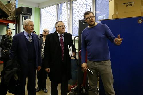 Ekonomikas ministra Arvila Ašeradena vizīte Ķīpsalā