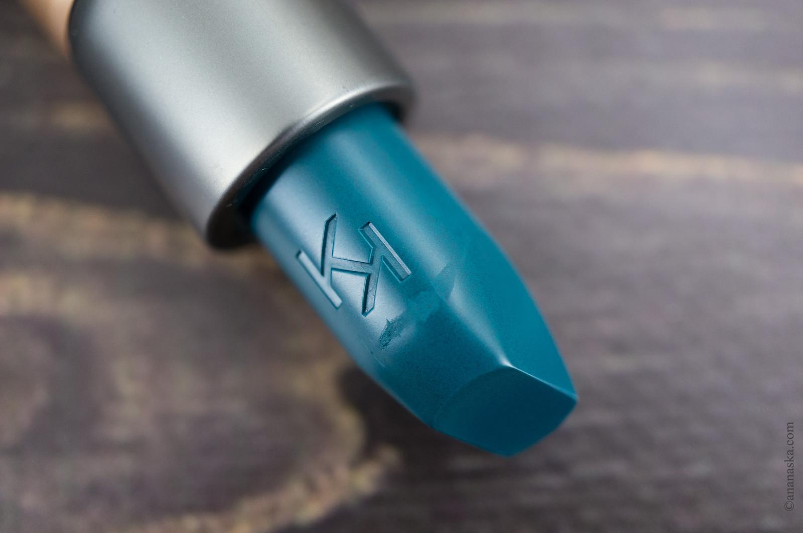 Kiko Milano Velvet Passion Matte Lipstick Crazy Colours 322 Sapphire Green