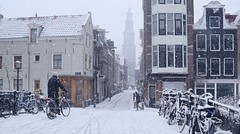 February brings snow in heart of Amsterdam