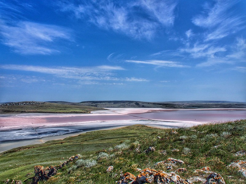 Salt lakes of Kerch peninsula, Crimea, Ukraine