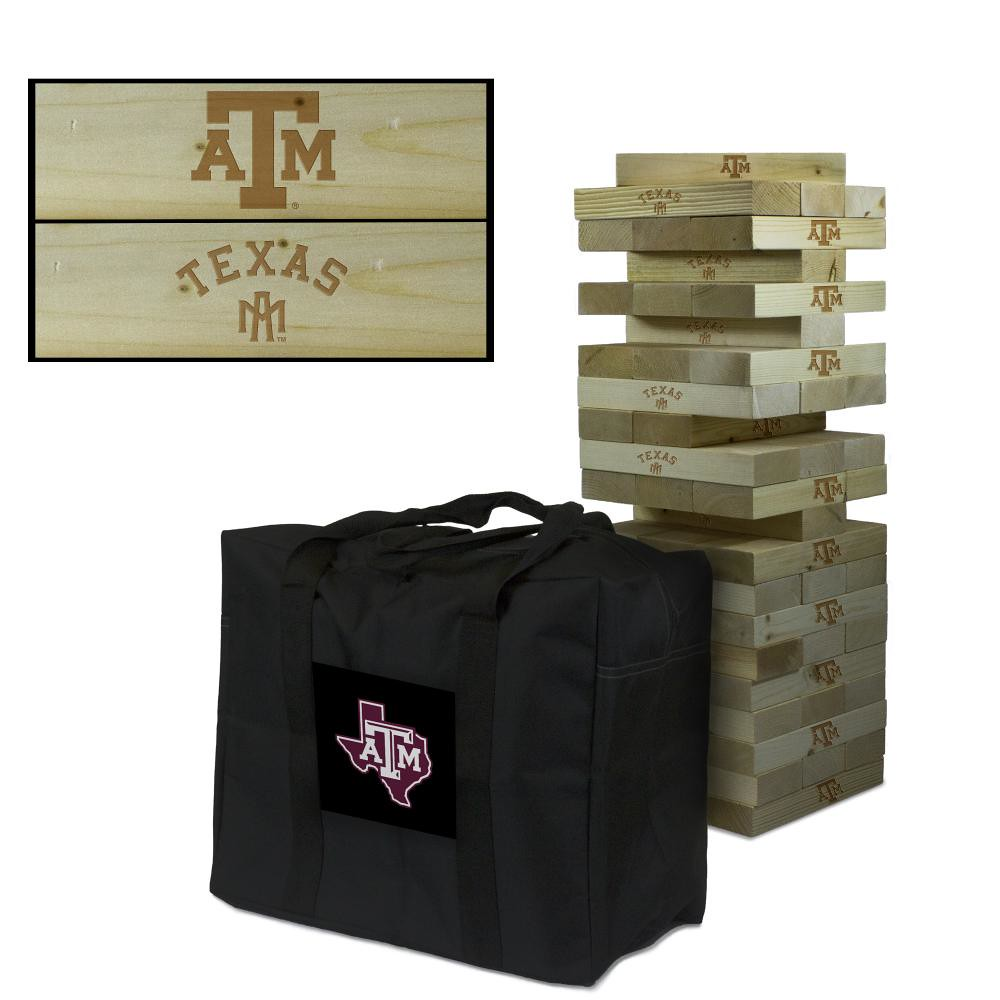 Texas AM University Aggies Wooden Tumble Tower Game