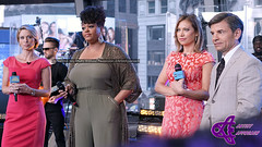 Amy Robach,  Jill Scott, Ginger Zee, George Stephanopoulos