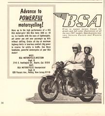 1967 BSA Motorcycle Advertisement Playboy May 1967