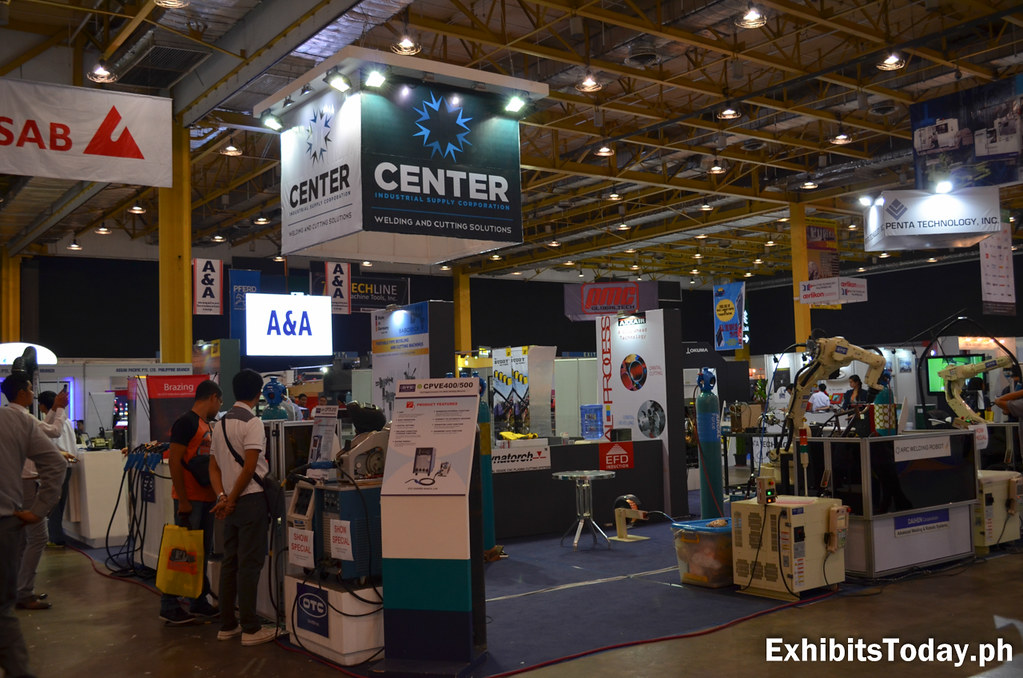 Center Welding and cutting Solutions Exhibit Stand